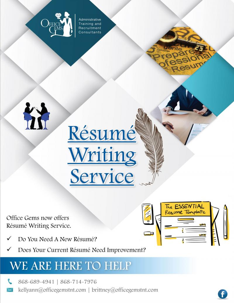 resume Resume Writing Service office gems administrative training and recruitment consultants writing services